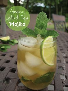 One more perfect mocktail for watching the ball drop: Green Mint Tea Mojito Mocktail (sub about 5 drops liquid stevia for the sugar)