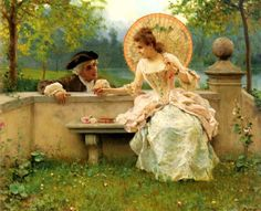 Federico Andreotti A Tender Moment in the Garden painting is shipped worldwide,including stretched canvas and framed art.This Federico Andreotti A Tender Moment in the Garden painting is available at custom size. Canvas Art Prints, Oil On Canvas, William Adolphe Bouguereau, Art Ancien, Romantic Paintings, Love Oil, Romantic Scenes, Pierre Auguste Renoir, Italian Painters