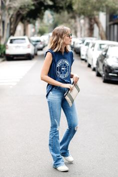 What makes the perfect blue denim piece?
