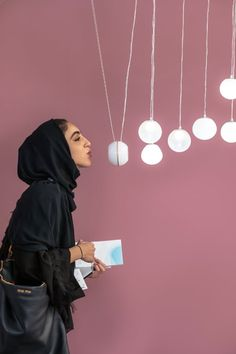 Audiences at Downtown Design in Dubai are charmed by the magic of the Breath of Light installation comprising crystal glass bubbles with cutting edge technology. Dubai Design Week, Creative Hub, Light Installation, New Details, Celebration, Bubbles, Design Inspiration, Charmed, Magic