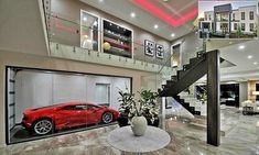 Showoff the Lamborghini in your living room in this flash Brisbane pad
