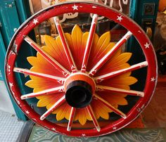 pictures of circus wagons | Antique Circus Wagon Wheel by mammothcurios on Etsy