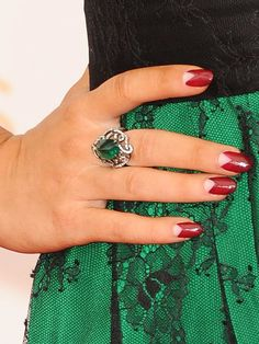 Sarah Hyland Triangular Nail Art