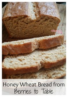 Make your own homemade bread from food storage with wheat berries and a grain mill.  Easy peasy! The Homesteading Hippy #homesteadhippy #fromthefarm #recipes