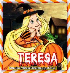 Nombres en Imagen: Nombres Halloween -Rapunzel (T)