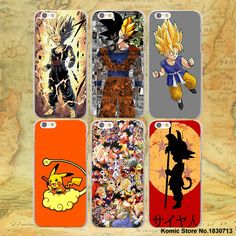 ETFC-1 Japanese Anime Series Dragon Ball Z Pattern hard transparent clear Cover Case for Apple iPhone SE 4 4s 5 5s 5c 6 6s Plus