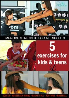5 EXERCISES FOR KIDS & TEENS fitkids.kiana.com