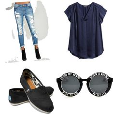 #vintage by shefali737 on Polyvore featuring polyvore fashion style H&M Wet Seal TOMS vintage