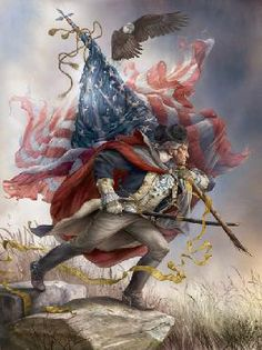 """""""The American Spirit"""" by Tom duBois  -  available as an open edition on paper, an open edition on canvas, a signed open edition on canvas, a limited edition giclee on canvas, and an artist's proof on canvas at Prints.com"""