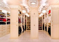 My requirement when I move is the house needs a huge closet!