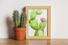 WATER COLOR CACTUS DIGITAL PRINTABLE