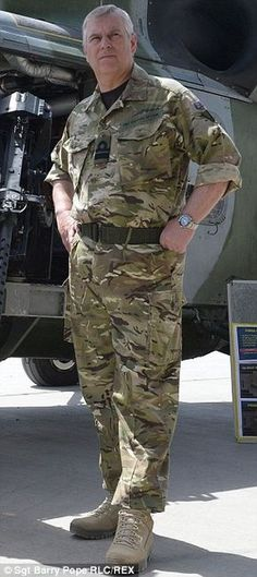 Prince Andrew in Afghanistan in 2013