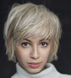100 Mind-Blowing Short Hairstyles for Fine Hair - Short Shaggy Blonde Hairstyle - Short Haircuts With Bangs, Short Hairstyles Fine, Short Layered Haircuts, Haircuts For Fine Hair, Hairstyles Haircuts, Short Hair Cuts, Blonde Hairstyles, Pixie Haircuts, Haircut Short