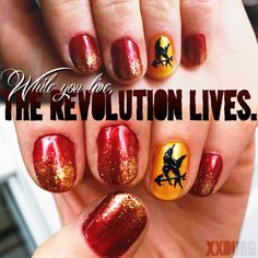 Catching Fire nails by supsupxxdurg