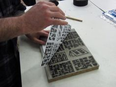 How to Print a One-Page Book byHand #books #paper #printmaking
