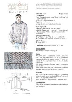 Visita l'articolo per saperne di più. Knitting Projects, Knitting Patterns, Fashion Illustration Sketches, Crochet Diagram, Couture, Knit Dress, Knitwear, Knit Crochet, Men Sweater