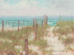 Dune grass on a sand ridge, painting by Michael Gibbons