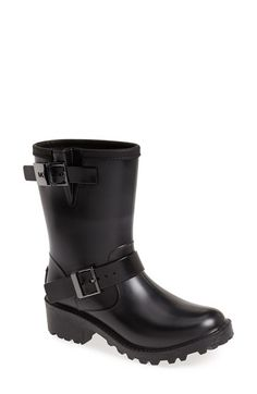 Free shipping and returns on MICHAEL Michael Kors 'Devenport' Waterproof Engineer Rain Boot (Women) at Nordstrom.com. Face damp days with gusto in these waterproof rain boots that feature adjustable straps and a logo plate at the heel. An expandable buckled calf and tough lug sole allow for both comfort and bravado.