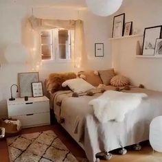 Apartment Bedroom Decor, Bohemian Bedroom Decor, Room Ideas Bedroom, Small Room Bedroom, Ikea Bedroom, Bedroom Furniture, Bedroom Ideas For Small Rooms Cozy, Bedroom Designs, Bedroom With Sofa