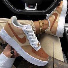 Dr Shoes, Cute Nike Shoes, Swag Shoes, Cute Sneakers, Hype Shoes, Beige Nike Shoes, Brown Sneakers, Jordan Shoes Girls, Girls Shoes