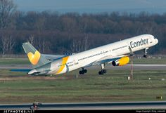 Boeing 757-330, Condor, D-ABOJ, cn 29019/915, 275 passengers, first flight 11.2.2000, Condor delivered 13.3.2000. Active, for examply 11.6.2016 flight Antalya - Cologne. Foto: Dusseldorf, Germany, 27.2.2016.