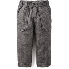 Tea Collection Herringbone Baby Pants - Jet Black