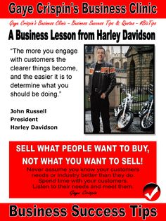 Gaye Crispin's Business Clinic -  A Business Lesson from Harley Davidson by John Russell