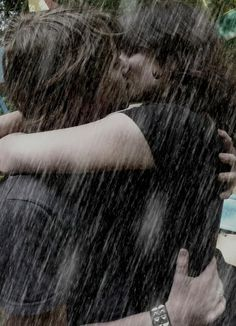Kiss me in the pouring rain