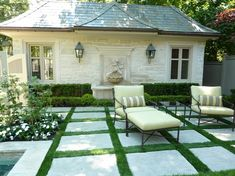 pavers with grass in between - love this look!