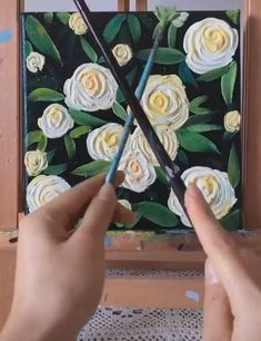 Click the Link to Buy Best Quality Oil Painting Colors... #OilPainting #OilPaintingVideos Canvas Painting Tutorials, Diy Painting, Painting Flowers Tutorial, Oil Painting Flowers, Knife Painting, Simple Canvas Paintings, Diy Canvas Art, Art Painting Gallery, Acrylic Art