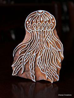 Hand Carved Indian Wood Textile Stamp Block by charancreations, $27.50