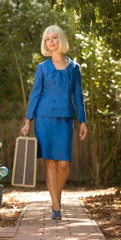 1960's ROYAL blue skirt suit