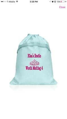 Frozen inspired Thirty-one cinch sac for my daughter on our Disney trip 2017