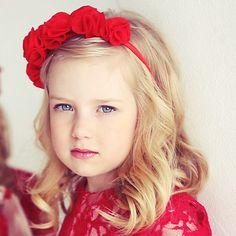 Обруч из фетра , felt hoop, red hoop, felt flowers, цветы из фетра, детский обруч, красный, для девочки, for girl