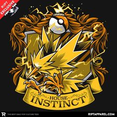 The gang at RIPT Apparel does daily t-shirt designs. Today's daily designs are t-shirts for the different teams in Pokemon GO. Play Pokemon, Pokemon Memes, Pokemon Fan, Pokemon Go Team Instinct, Equipe Pokemon, Pokemon Go Cheats, T Shirt Pokemon, Geek Culture, Pop Culture