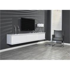 Wit mat zwevend tv-meubel Nero XXL