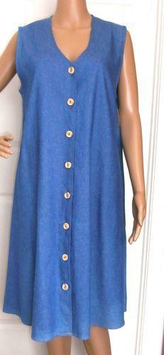 #TUMBLEWEEDS #WOMENS #DENIM #DRESS BUTTON FRONT SLEEVELESS KNEE LENGTH NEW  http://r.ebay.com/TyVnMF