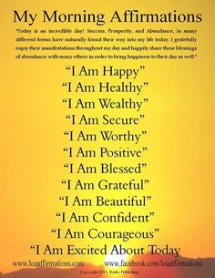 Uplifting Morning affirmations for use with EFT. Ruthi-Cohen Joyner | www.tappingjourney.com