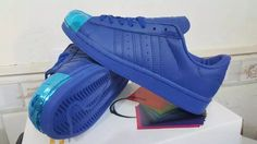 Mens Adidas Superstar 80s With Metal Toe Navy Blue
