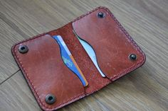 Check out this item in my Etsy shop https://www.etsy.com/nl/listing/233367945/leather-cardholder-twofold