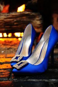 Blue wedding shoes. Photo credit:  Lindsay Shaw Photography