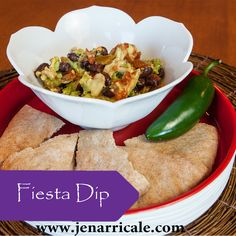 Fiesta Dip  Cinco de Mayo fun doesn't have to be unhealthy - bring this tasty dip to the party & enjoy!