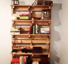pallet furniture | DIY: Pallet Bookshelf Plans or Instructions | Wooden Pallet Furniture