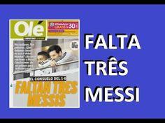 JORNAIS NA ARGENTINA lamentam a falta de Messi na humilhação de 6 x 1 co...