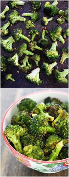 Easy Roasted Broccoli Recipe on twopeasandtheirpod.com The BEST broccoli you will ever eat! And the kids love it too!