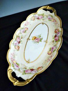 Antique Limoges porcelain ice cream tray