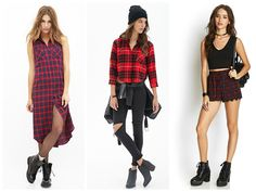 """¡¡¡ MAD FOR PLAID! Loca por los cuadros. No se puede negar que este estilo de estampado es el epitome de lo que define tu outfit como """"street style"""" le da ese toque de fuerza que a veces no sabemos como ponerle a nuestro conjunto. Forever 21 nos da la opción de tener esta maravillosa tendencia en nuestro closet por medio de su colección """"MAD FOR PLAID"""" no se la pierdan. http://www.forever21.com/Product/Category.aspx?br=f21&category=promo-plaids"""