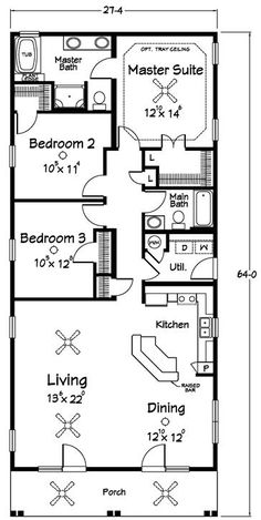 Floor Plans :: Southern Dream Home Builders - Custom Modular Homes - Jonesborough TN Modular Floor Plans, Small House Floor Plans, Bungalow House Plans, Shotgun House Floor Plans, Small Kitchen Floor Plans, Condo Floor Plans, The Plan, How To Plan, Dream Home Builder