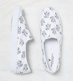 Skull Printed Slip-On Sneaker