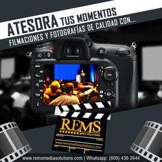 Rems Media Solutions es tu solución en esos momentos importantes.